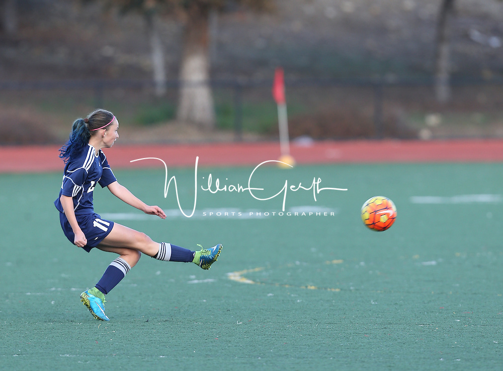 (Photograph by Bill Gerth/ for Max Preps/12/17/15) Leland vs Westmont in a Girls Soccer Game at WestmontHigh School, Campbell CA on12/17/15.