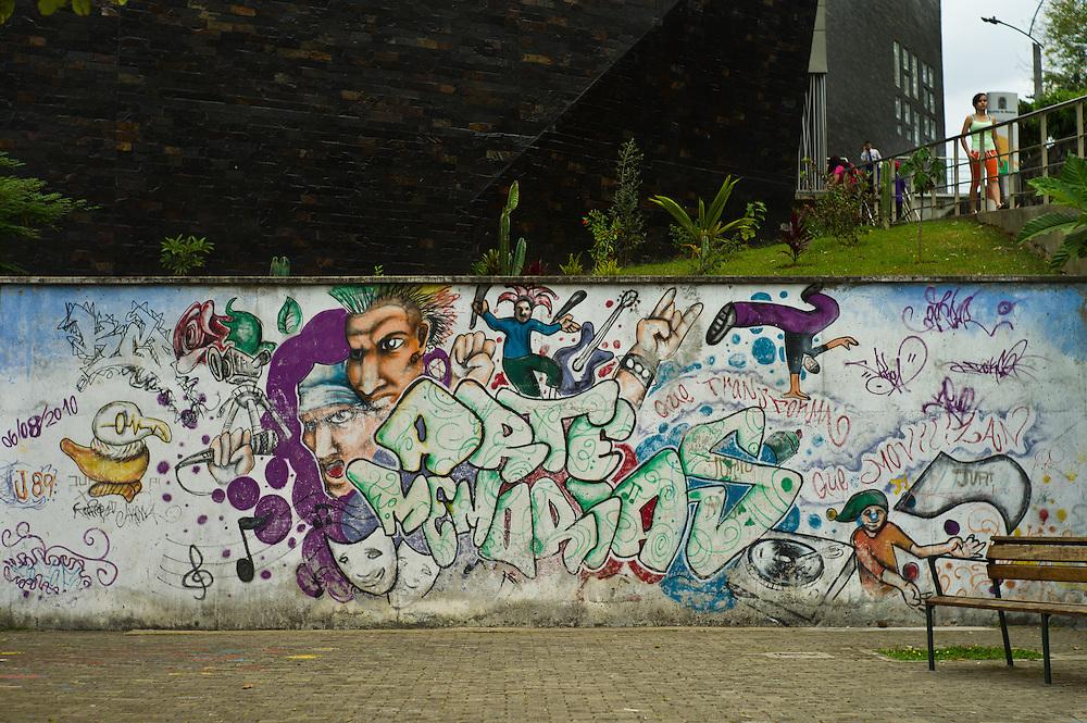 Street art in Santo Domingo Savio in Medellín, Antioquia, Colombia.