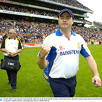 24 July 2005; Clare manager Anthony Daly celebrates at the final whistle. Guinness All-Ireland Senior Hurling Championship Quarter-Final, Wexford v Clare, Croke Park, Dublin. Picture credit; Brendan Moran / SPORTSFILE