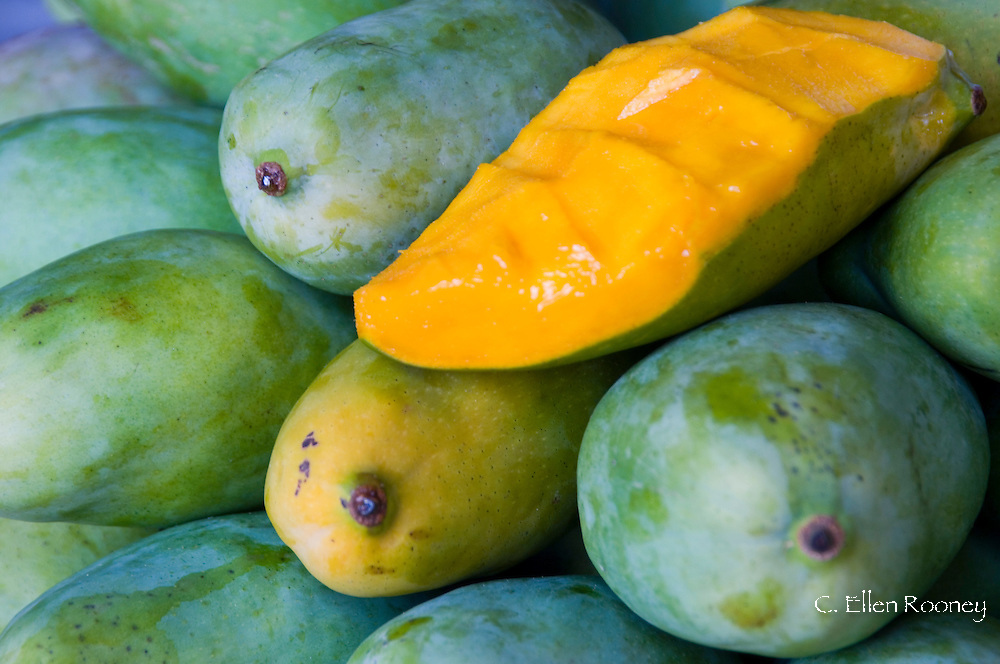 Mangos in the market.  Funchal, Madeira