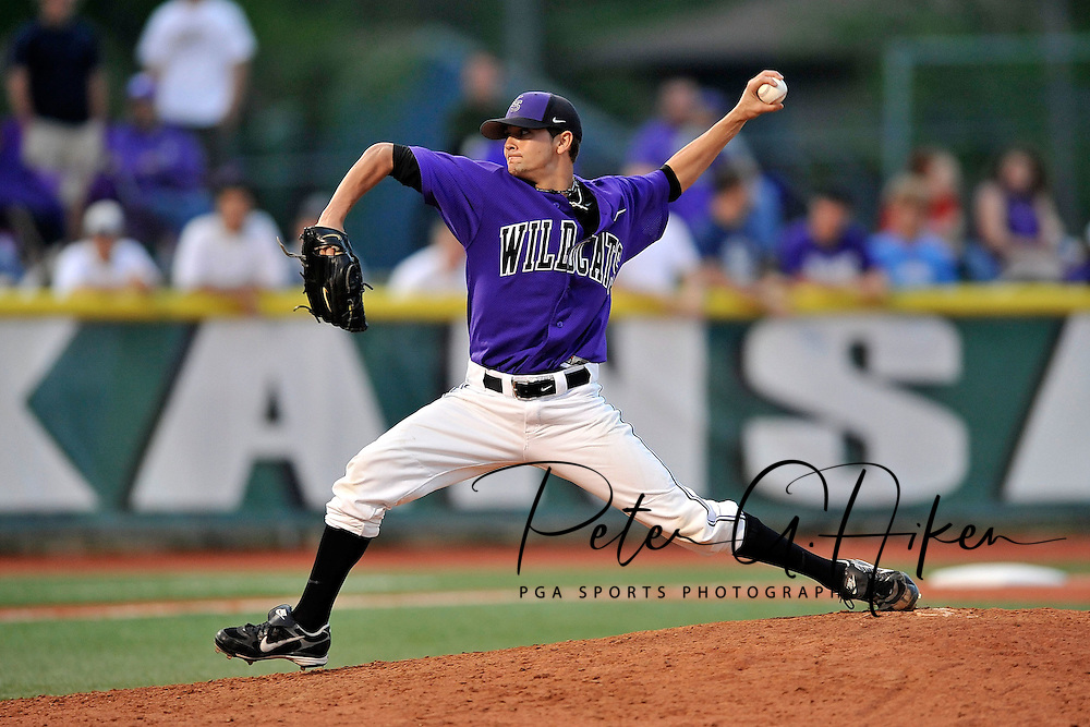 MANHATTAN, KS - MAY 06:  MANHATTAN, KS - May 06:  Pitcher Tyler Ruch #13 of the Kansas State Wildcats pitched a 1/3 of an innings in relief and picked up the win against the Arizona State Sun Devils on May 06, 2008 at Tointon Stadium in Manhattan, Kansas.  Kansas State defeated Arizona State 7-6.  (Photo by Peter Aiken/Getty Images) *** Local Caption *** Tyler Ruch