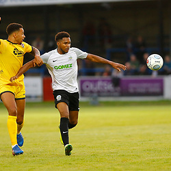 APRIL 1:  Dover Athletic against Bromley in Conference Premier at Crabble Stadium in Dover, England.Dover's forward Kane Richards keeps Bromely's Ben Wynter from the ball.  (Photo by Matt Bristow/mattbristow.net)