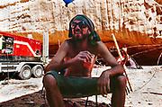 Man drinking, Middle East Tek, Wadi Rum, Jordan, 2008