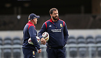 Rugby Union - 2017 British & Irish Lions Tour of New Zealand - Captains Run - <br /> <br /> Andy Farrell defence coach chats to Neil Jenkins kicking coach during the Captains run at Forsyth Barr Stadium, Dunedin.<br /> <br /> COLORSPORT/LYNNE CAMERON