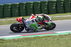 July 7, 2018 - Misano, Italy, Italy - 12 Xavi Fores ESP Ducati Panigale R Barni Racing Team during the Motul FIM Superbike Championship - Italian Round Superpole race during the World Superbikes - Circuit PIRELLI Riviera di Rimini Round, 6 - 8 July 2018 on Misano, Italy. (Credit Image: © Fabio Averna/NurPhoto via ZUMA Press)