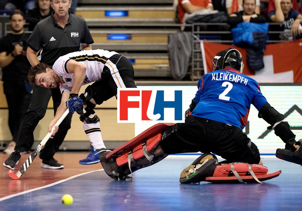 BERLIN - Indoor Hockey World Cup<br /> Quarterfinal 3: Germany - Switzerland<br /> foto: Tobias Hauke.<br /> WORLDSPORTPICS COPYRIGHT FRANK UIJLENBROEK