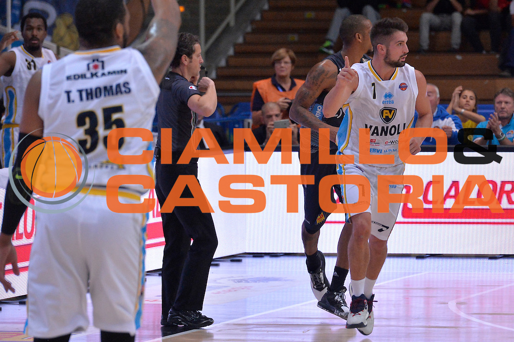 Fabio Mian<br /> Dolomiti Energia Aquila Basket Trento - Vanoli Cremona<br /> Lega Baket Serie A 2016/2017<br /> Trento, 09/10/2016<br /> Foto Ciamillo-Castoria