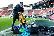 ALKMAAR - 15-02-2017, AZ - Olympique Lyon, AFAS Stadion, training, AZ trainer John van den Brom