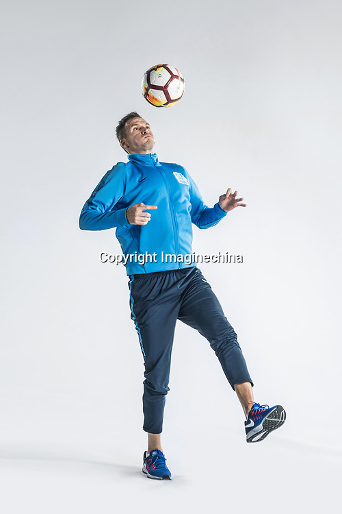 **EXCLUSIVE**Portrait of Serbian soccer player Marko Perovic of Guangzhou R&F F.C. for the 2018 Chinese Football Association Super League, in Guangzhou city, south China's Guangdong province, 23 February 2018.