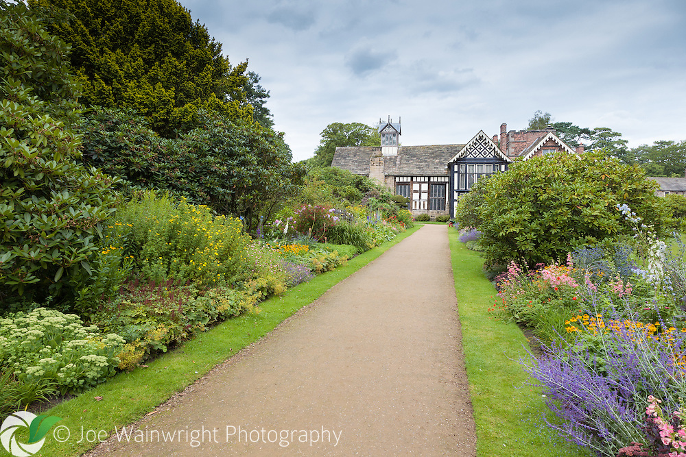The garden of Rufford Old Hall, Lancashire, which was built in around 1530