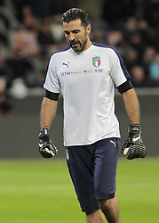 November 13, 2017 - Milan, Italy - Gianluigi Buffon during the playoff match for qualifying for the Football World Cup 2018  between Italia v Svezia, in Milan, on November 13, 2017. (Credit Image: © Loris Roselli/NurPhoto via ZUMA Press)