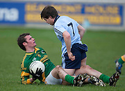 Dublin v Meath O`Byrne Cup Quarter Final at Parnell Park 24/01/10.Cormac McGuinness (Meath) & Dara Nelson (Dublin) exchange words after a first half tussle..Photo: © David Mullen / quirke.ie