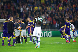 Naby Sarr of Sporting sad after football match between NK Maribor and Sporting Lisbon (POR) in Group G of Group Stage of UEFA Champions League 2014/15, on September 17, 2014 in Stadium Ljudski vrt, Maribor, Slovenia. Photo by Matic Klansek Velej  / Sportida.com