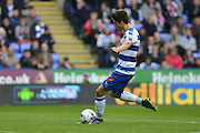 Reading's Lucas Piazon puts a free kick high over the bar during the Sky Bet Championship match between Reading and Charlton Athletic at the Madejski Stadium, Reading, England on 17 October 2015. Photo by Mark Davies.
