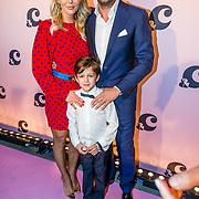 NLD/Amsterdam/20170321 - Chantal Janzen lanceert mediaplatform &C, Chantal Janzen met partner Marco Geeratz en hun zoon James
