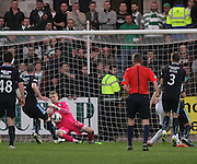Scott Bain saves a close range James Forrest effort - Dundee v Celtic - SPFL Premiership at Dens Park<br /> <br /> <br />  - &copy; David Young - www.davidyoungphoto.co.uk - email: davidyoungphoto@gmail.com
