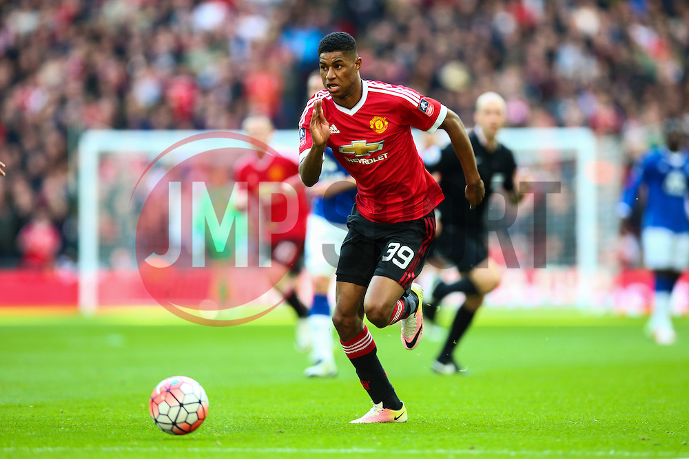 Marcus Rashford of Manchester United - Mandatory byline: Jason Brown/JMP - 07966386802 - 23/04/2016 - FOOTBALL - Wembley Stadium - London, England - Everton v Manchester United - The Emirates FA Cup