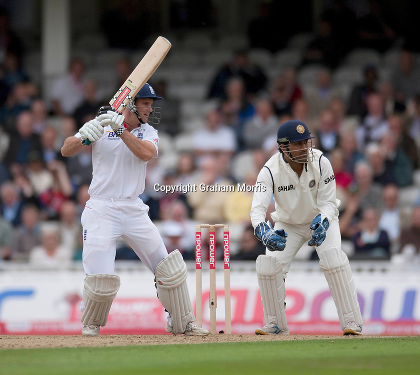 Andrew Strauss bats during the fourth and final npower Test Match between England and India at the Oval, London.  Photo: Graham Morris (Tel: +44(0)20 8969 4192 Email: sales@cricketpix.com) 18/08/11