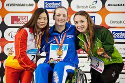 LIN Ping, KEARNEY Tully, KEANE Ellen CHN, GBR, IRL at 2015 IPC Swimming World Championships -  Women's 200m Individual Medley SM9