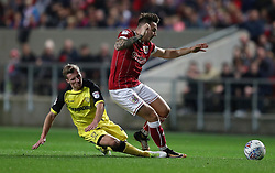 Josh Brownhill of Bristol City is tackled by Jamie Allen of Burton Albion - Mandatory by-line: Gary Day/JMP - 13/10/2017 - FOOTBALL - Ashton Gate Stadium - Bristol, England - Bristol City v Burton Albion - Sky Bet Championship
