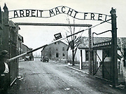 The main gateway of Auschwitz Concentration Camp.