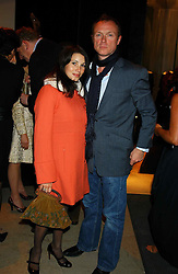 GARY KEMP and his wife LAUREN at a party to celebrate the first 20 years of fashion label Donna Karan held at her store at 19/20 New Bond Street, London W1 on 21st September 2004.<br /><br />NON EXCLUSIVE - WORLD RIGHTS