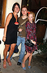 Left to right, SUSAN CLEMENT, LAYKE ANDERSON and actress NATHALIE PRESS at the launch of 'Blow Lips' a new lipstick by Isabella Blow and MAC Makeup held at the the Blow de la Barra Gallery, 35 Heddon Street, London on 7th September 2005.<br /><br />NON EXCLUSIVE - WORLD RIGHTS