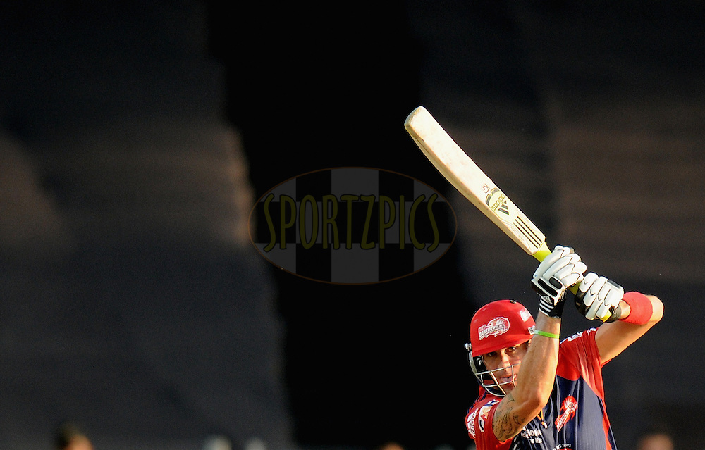 Kevin Pietersen of Delhi Daredevils bats during match 31 of the Indian Premier League ( IPL) 2012  between The Pune Warriors India and the Delhi Daredevils held at the Subrata Roy Sahara Stadium, Pune on the 24th April 2012..Photo by Pal Pillai/IPL/SPORTZPICS