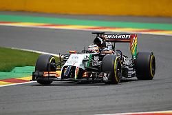 22.08.2014, Circuit de Spa, Francorchamps, BEL, FIA, Formel 1, Grand Prix von Belgien, Training, im Bild Nico Huelkenberg (Sahara Force India F1 Team/Mercedes)// during the Practice of Belgian Formula One Grand Prix at the Circuit de Spa in Francorchamps, Belgium on 2014/08/22. EXPA Pictures &copy; 2014, PhotoCredit: EXPA/ Eibner-Pressefoto/ Bermel<br /> <br /> *****ATTENTION - OUT of GER*****