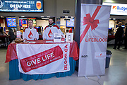 KELOWNA, CANADA - FEBRUARY 20:  Canadian Blood Services at the Kelowna Rockets game on February 20, 2018 at Prospera Place in Kelowna, British Columbia, Canada.  (Photo By Cindy Rogers/Nyasa Photography,  *** Local Caption ***