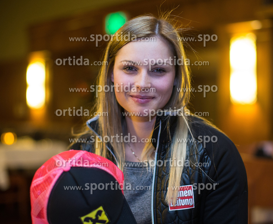 27.11.2013, Hotel Charter, Beaver Creek, USA, FIS Ski Weltcup, Beaver Creek, Pressegespraech OeSV Damenteam, im Bild Anna Fenninger (AUT) // Anna Fenninger of Austria during the press conference of Austrian ladies Ski Team of the Beaver Creek ladies FIS Ski Alpine World Cup at the Charter Hotel in Beaver Creek, United States on 2012/11/27. EXPA Pictures © 2013, PhotoCredit: EXPA/ Johann Groder
