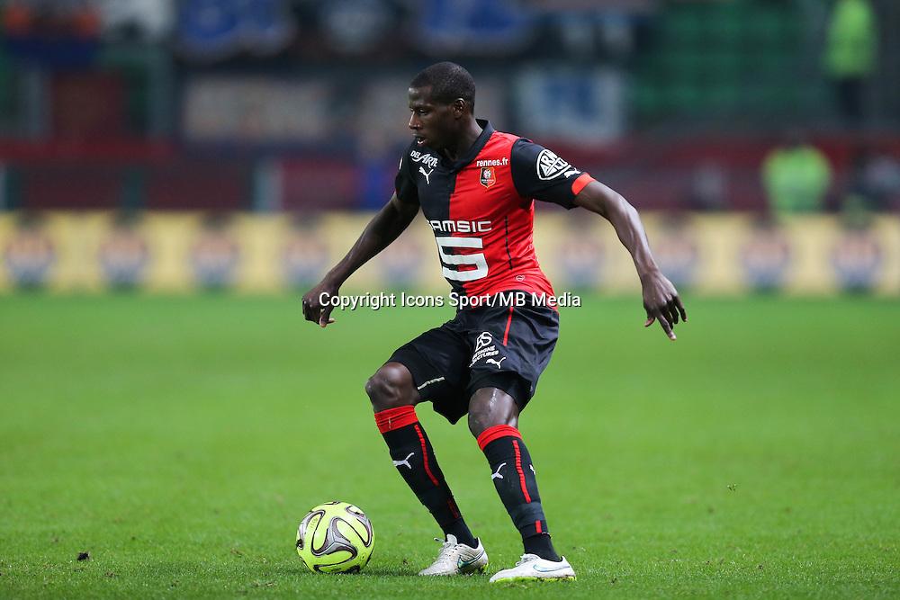 Abdoulaye DOUCOURE - 06.12.2014 - Rennes / Montpellier - 17eme journee de Ligue 1 -<br />Photo : Vincent Michel / Icon Sport
