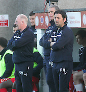 Dundee manager Paul Hartley and assistant Gerry McCabe - Brechin City v Dundee, pre-season friendly at Dens Park<br /> <br />  - &copy; David Young - www.davidyoungphoto.co.uk - email: davidyoungphoto@gmail.com