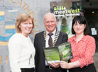 300 Businesses Expected to Attend West of Ireland&rsquo;s Largest Business Networking Event<br />  Registration is now open for MeetWest 2014, the largest business networking event in the West of Ireland this year. <br /> Hosted by Galway City Council, MeetWest 2014 is a two-day business networking forum taking place at the Galway Bay Hotel, Salthill, Galway on November 20th and 21st 2014.<br /> Pictured at the launch of MeetWest2014 in City Hall, Galway were Dr. Emer Mulligan, Head of the J.E. Cairnes School of Business and Economics,NUI Galway; Frank Greene, President Galway Chamber and Sharon Carroll, Galway City Council<br />  . Photo:Andrew Downes