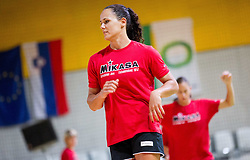 Daniela Piedade during practice session of handball club RK Krim Mercator  at the beginning of new season 2012/13, on August 21, 2012 in Arena Stozice, Ljubljana, Slovenia. (Photo by Vid Ponikvar / Sportida.com)