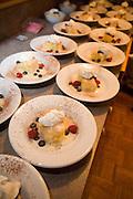 Bread pudding dessert<br />