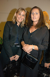 Left to right, the HON.MRS MONTGOMERY and HENRIETTA, COUNTESS OF CALEDON at a party to celebrate the launch of the Crine Gilson store at 12 Lowndes Street, London SW1 on 10th October 2006.<br />