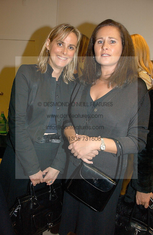 Left to right, the HON.MRS MONTGOMERY and HENRIETTA, COUNTESS OF CALEDON at a party to celebrate the launch of the Crine Gilson store at 12 Lowndes Street, London SW1 on 10th October 2006.<br /><br />NON EXCLUSIVE - WORLD RIGHTS