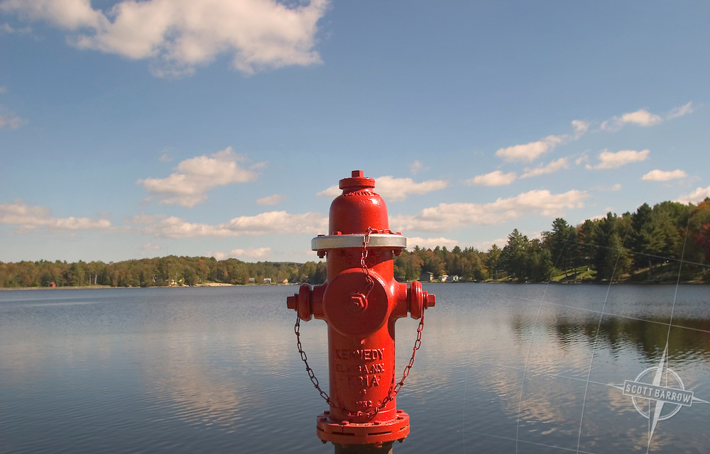 Fire Hydrant in front of lake