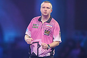 Ritchie Edhouse hits a double and wins a leg during the PDC William Hill World Darts Championship at Alexandra Palace, London, United Kingdom on 17 December 2019.