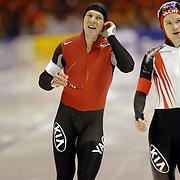 NLD/Heerenveen/20060122 - WK Sprint 2006, 2de 1000 meter heren, Rodan Ionescu en Vladimir Sherstyuk