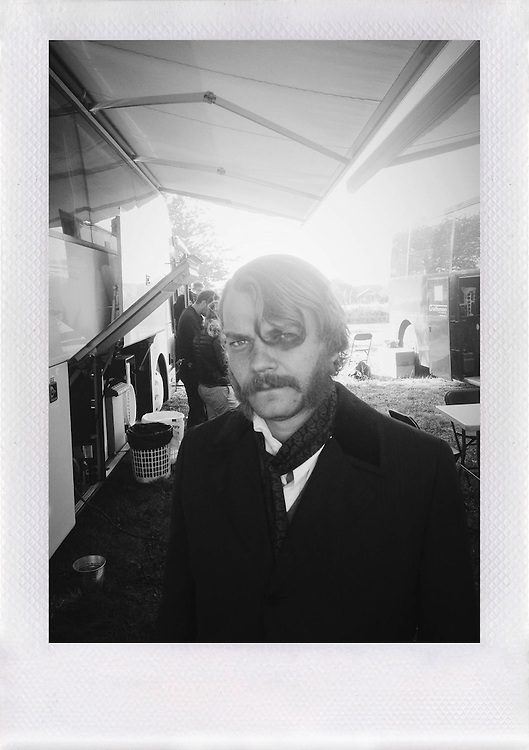 Pilou Asbæk on the set of TV-series '1864'