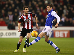Chris Basham of Sheffield United takes on Adam Reach of Sheffield Wednesday - Mandatory by-line: Robbie Stephenson/JMP - 12/01/2018 - FOOTBALL - Bramall Lane - Sheffield, England - Sheffield United v Sheffield Wednesday - Sky Bet Championship