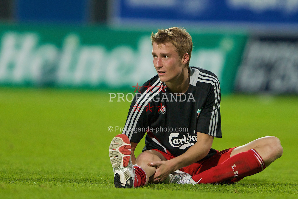 GRENCHEN, SWITZERLAND - Wednesday, July 16, 2008: Liverpool's Stephen Darby after a pre-season friendly at Stadion Bruhl. (Photo by David Rawcliffe/Propaganda)