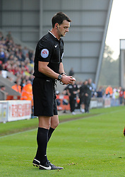 Referee, Mr Madley - Mandatory byline: Neil Brookman/JMP - 07966 386802 - 03/10/2015 - FOOTBALL - Globe Arena - Morecambe, England - Morecambe FC v Bristol Rovers - Sky Bet League Two
