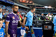 April 29, 2017: Sydney FC and Perth Glory walk out to start at Semi Final one of the 2016/17 Hyundai A-League match, between Sydney FC and Perth Glory, played at Allianz Stadium in Sydney.