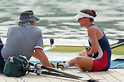 St Catherines, CANADA,  Women's  Single Sculls Sculls . USA. W1X. Leslie RAWLEY - BURNS?, 1999 World Rowing Championships - Martindale Pond, Ontario. 08.1999..[Mandatory Credit; Peter Spurrier/Intersport-images]     ... 1999 FISA. World Rowing Championships, St Catherines, CANADA