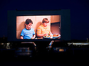 The movie begins at Raleigh Road Drive-in in Henderson, NC.