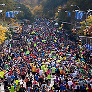 November 1, 2015 - New York, NY : Runners travel south on 5th Ave., south of Marcus Garvey Park near E 119th St. in Harlem as they participate in the 2015 TCS New York City marathon on Sunday.<br />  CREDIT: Karsten Moran for The New York TImes
