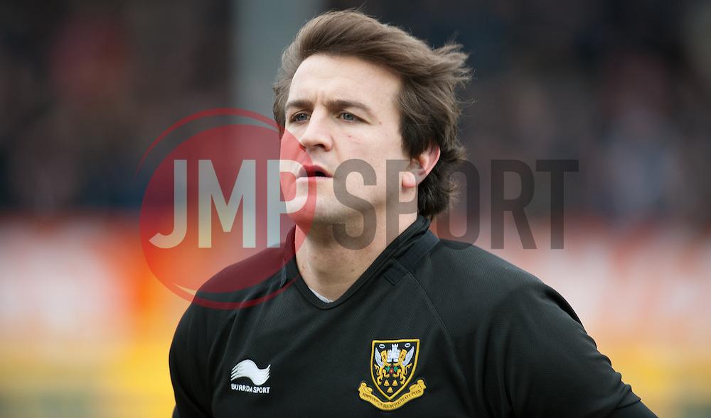 Lee Dickson of Northampton Saints.  - Mandatory byline: Alex Davidson/JMP - 20/03/2016 - RUGBY - Sandy Park - Exeter, England - Exeter Chiefs v Northampton Saints - Aviva Premiership
